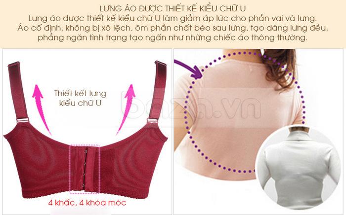 Bộ đồ lót nữ chất liệu ren cao cấp XZYD lưng áo cổ định, không bị xô lệch