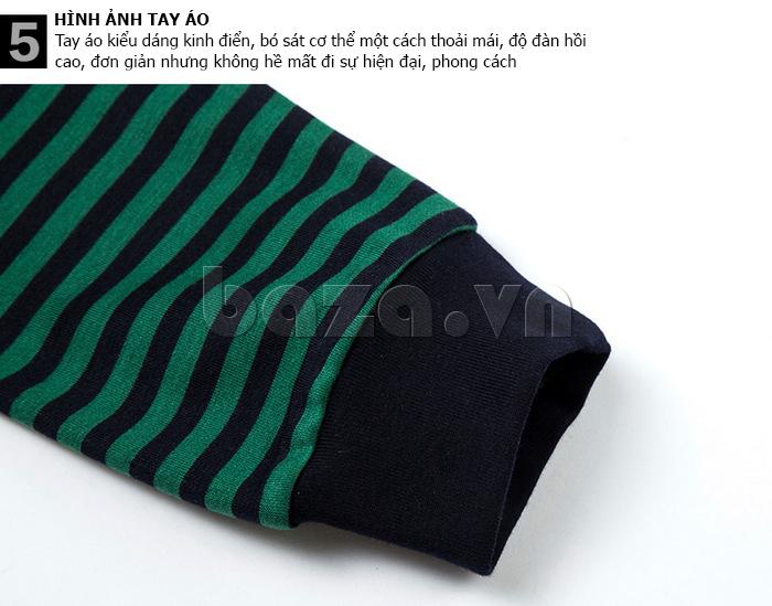 Áo nam Tshirt dài tay Nleidun T3033 cổ chữ V phong cách