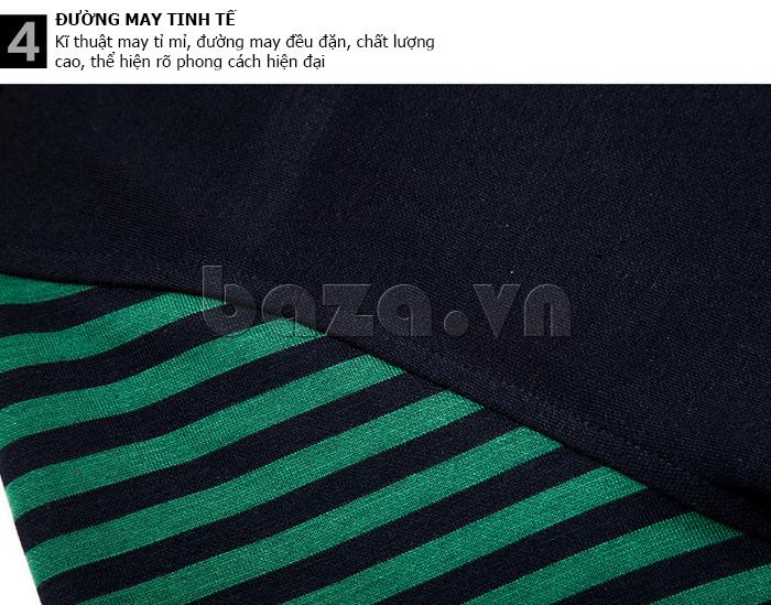 Áo nam Tshirt dài tay Nleidun T3033 cổ chữ V thời trang