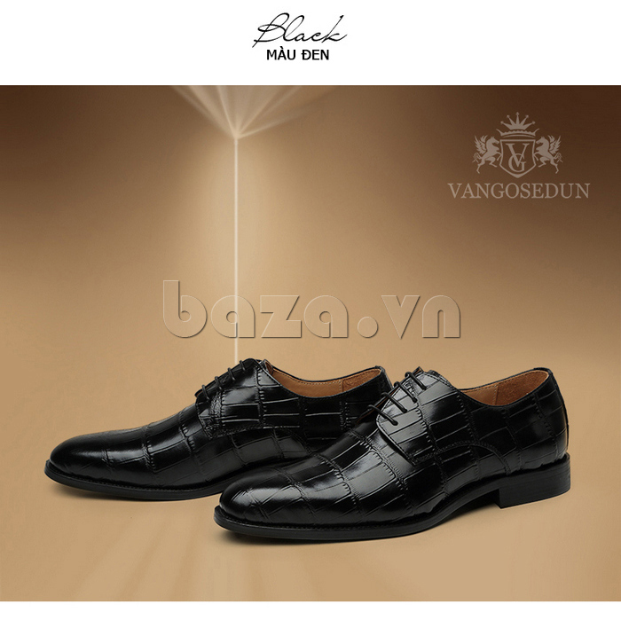 Giày da nam VANGOSEDUN Y1021 hoa văn cá sấu mê hoặc nam giới