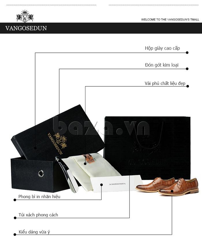 Phong bì nhãn hiệu của Giày da nam VANGOSEDUN Y1021