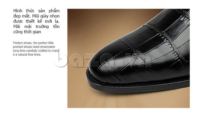 Giày da nam VANGOSEDUN Y1021 hoa văn cá sấu có hình thức đẹp mắt