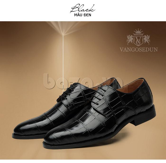 Giày da nam VANGOSEDUN Y1021 hoa văn cá sấu thời trang