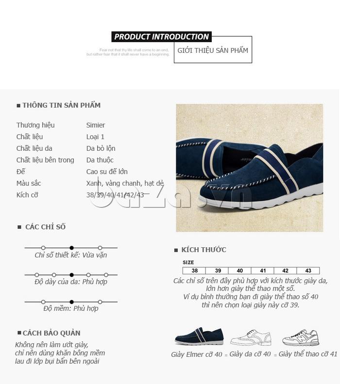 Thông tin sản phẩm Giầy nam thời trang Simier 8106