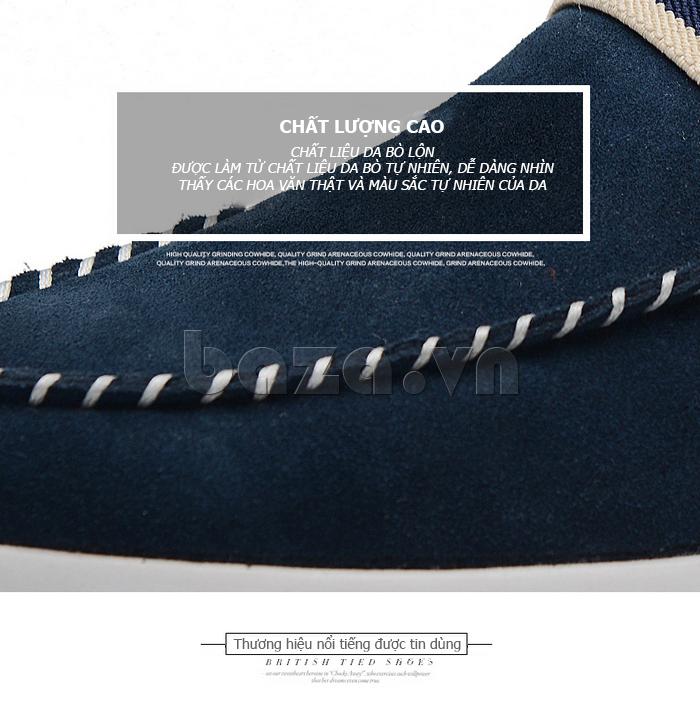 Giầy nam thời trang Simier 8106 da lộn chất lượng cao