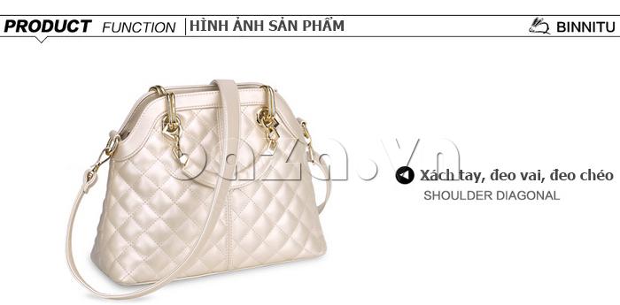 Túi xách nữ Binnitu B51279 có thể đeo theo nhiều cách khác nhau