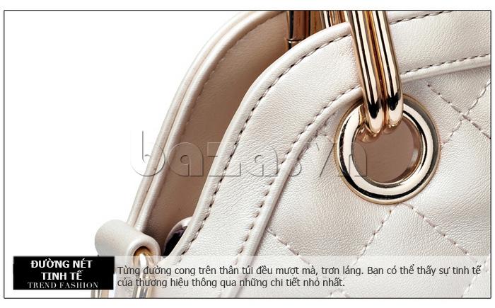 Túi xách nữ Binnitu B51279 tay cầm tinh tế