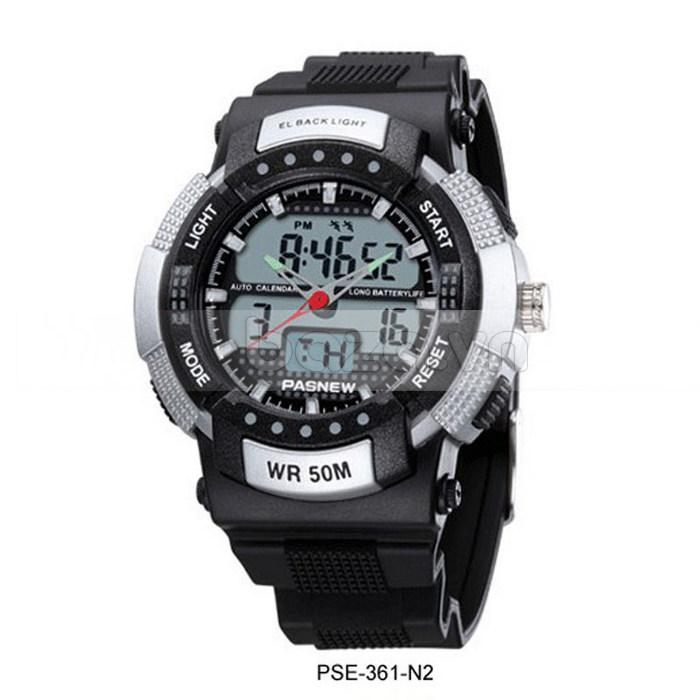 Đồng hồ thể thao PASNEW thời trang với mặt số thiết kế mạnh mẽ