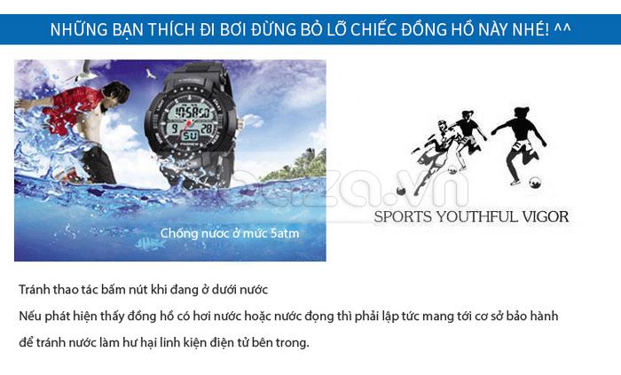 Đồng hồ thể thao PASNEW thời trang với mặt số  chống nước cực tốt
