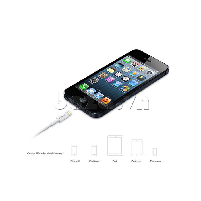 Cáp kết nối Pisen cho Iphone 5 - Thiết bị nối USB chi IP5 và máy tính