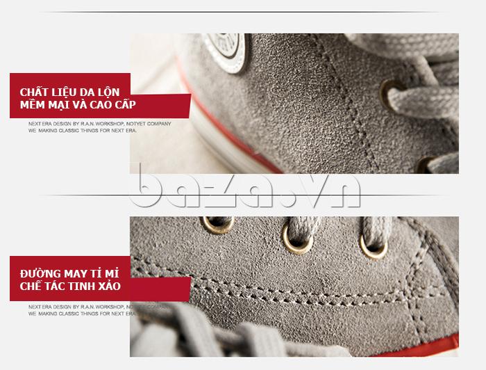 Đôi giày casual nam được chú ý từng đường may mũi chỉ