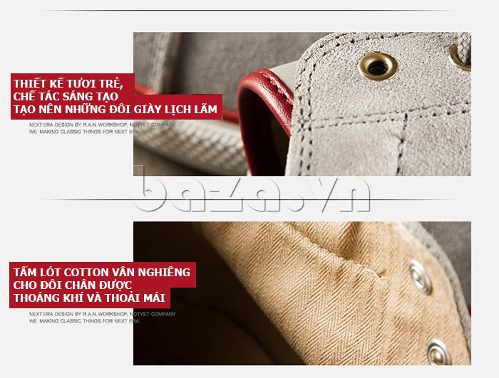 Thiết kế giày nam thời trang tươi trẻ, lịch lãm
