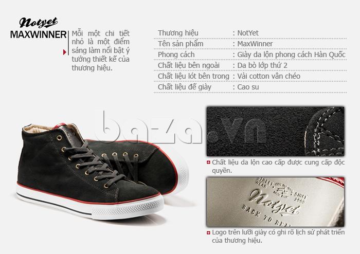 Mỗi một chi tiết nhỏ trên đôi giày thể thao nam đều làm nổi bật ý tưởng thiết kế của thương hiệu