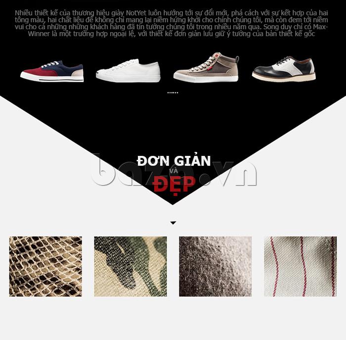 Thiết kế giày nam của Notyet luôn hướng tối sự phá cách để làm nổi bật cá tính của người dùng
