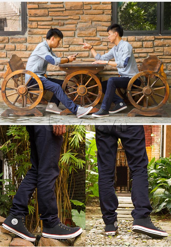 Giày casual nam thêm năng động và khỏe khoắn