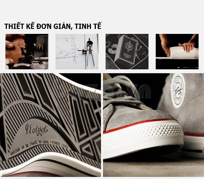 Thiết kế giày phong cách basket đơn giản mà tinh tế