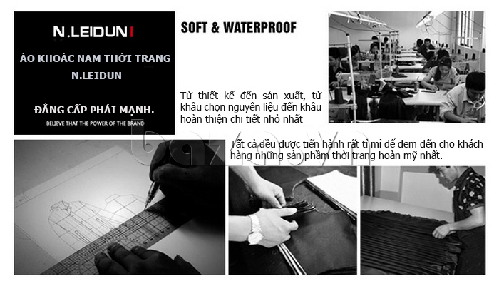 Áo len nam Nleidun S1010 kiểu dáng sơ mi đẳng cấp và chất lượng được chú trọng
