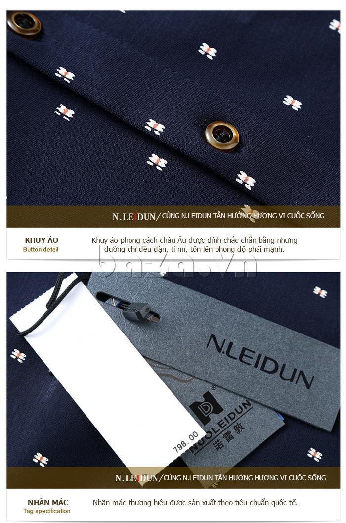 Áo len nam Nleidun S1010 kiểu dáng sơ mi cùng tận hưởng cuộc sống