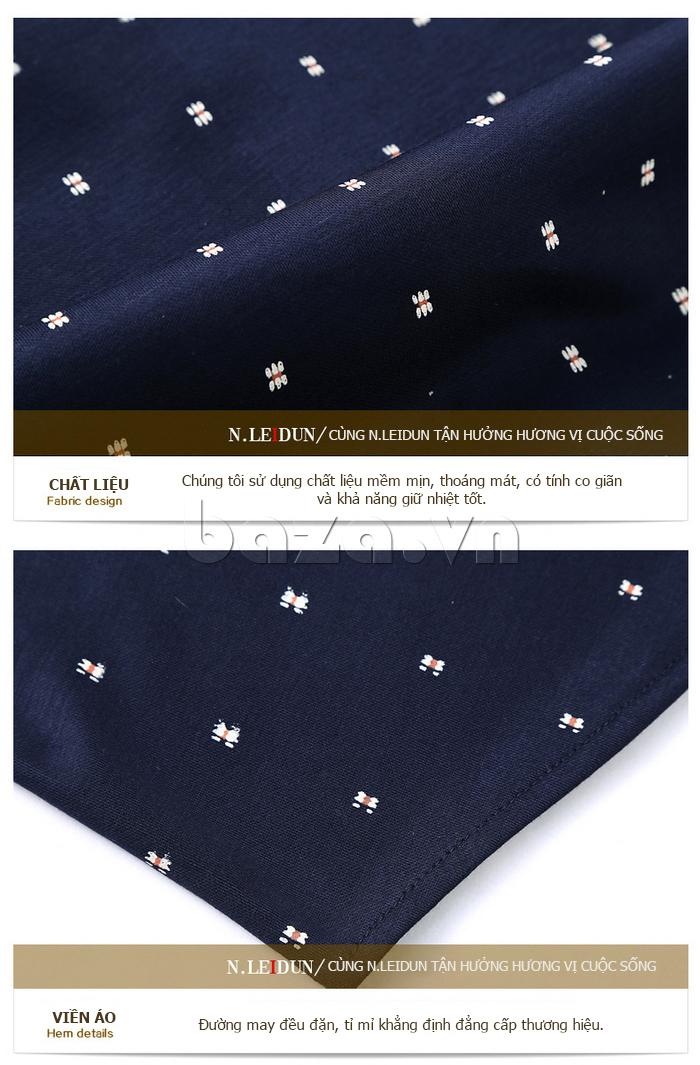 Áo len nam Nleidun S1010 kiểu dáng sơ mi chất lượng bền đẹp
