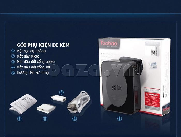 Pin dự phòng di động 4400mA Yoobao YB-627 cần thiết
