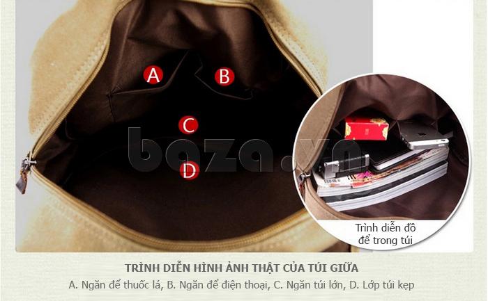 Túi đeo balo khóa chéo Buweisi S051 đựng được nhiều đồ