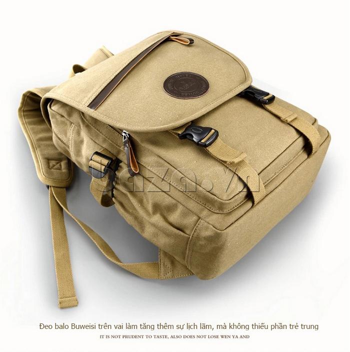 Túi đeo balo khóa chéo Buweisi S051 mặt trên