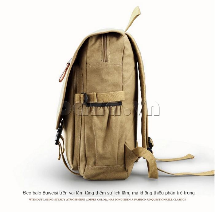 Túi đeo balo khóa chéo Buweisi S051 mặt bên