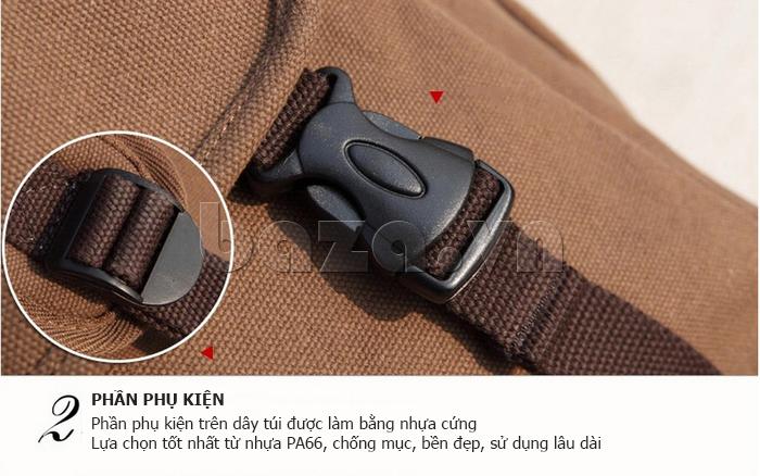 Túi đeo balo khóa chéo Buweisi S051 sử dụng phụ kiện nhựa cứng