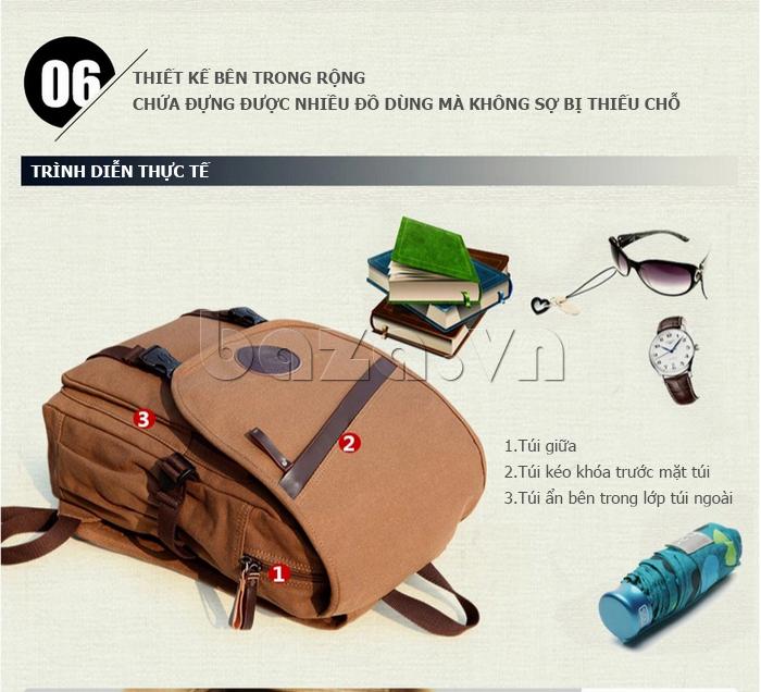 Túi đeo balo khóa chéo Buweisi S051 thiết kế đa năng