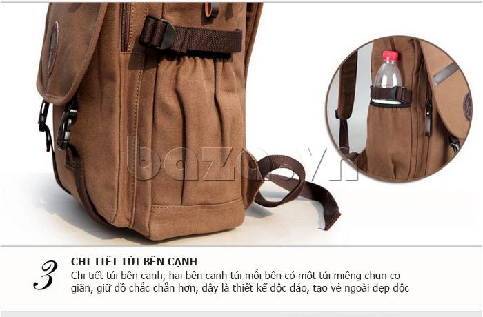 Túi đeo balo khóa chéo Buweisi S051 may túi cạnh tiện dụng