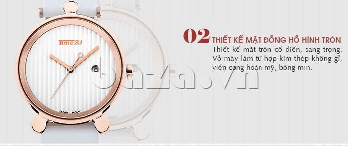 Đồng hồ thời trang Time2U 91-18918 mặt đồng hồ nữ tính