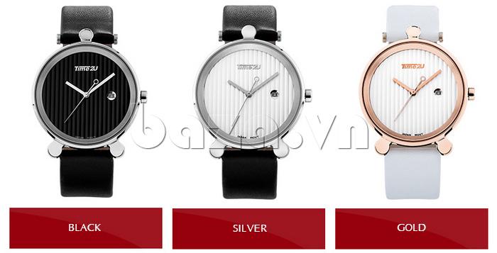 Đồng hồ thời trang Time2U 91-18918 chất lượng dây da bền bỉ