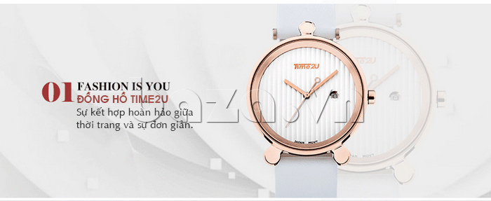 Đồng hồ thời trang Time2U 91-18918 thiết kế hoàn hảo