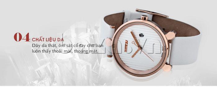 Đồng hồ thời trang Time2U 91-18918 chất liệu dây da thật