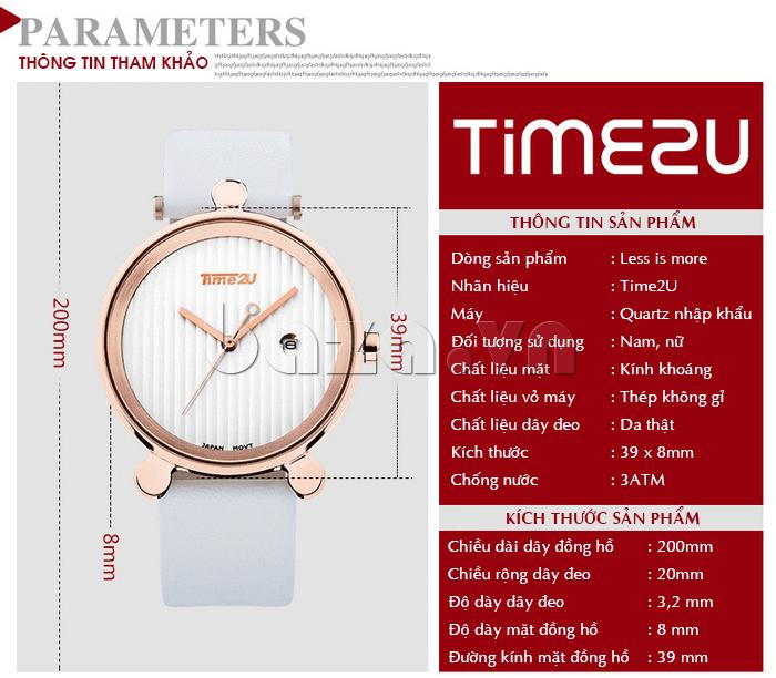Đồng hồ thời trang Time2U 91-18918 vẻ đẹp thời trang mới