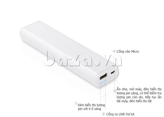 Thiết bị pin dự phòng di động 10400mAh Yoobao YB-6004 bán tại baza