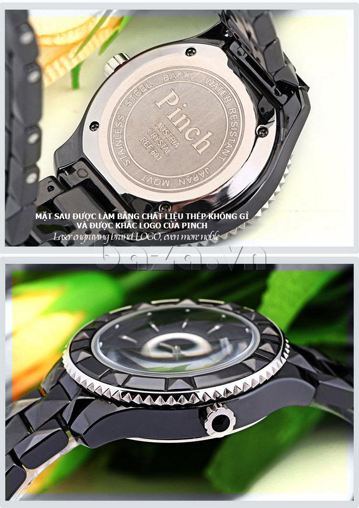 """Đồng hồ nữ """" Đồng hồ nữ thời trang Pinch 6001 """"  mắt sau được chế tác tỉ mỉ"""