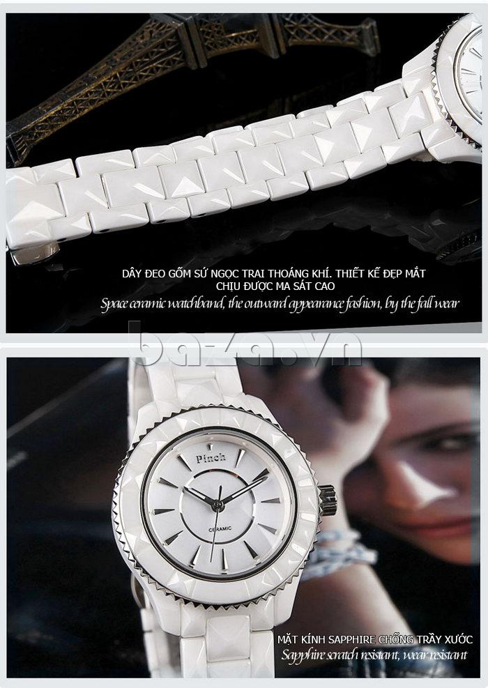 """Đồng hồ nữ """" Đồng hồ nữ thời trang Pinch 6001 """"  chất liệu cao cấp bên đẹp với thời gian"""