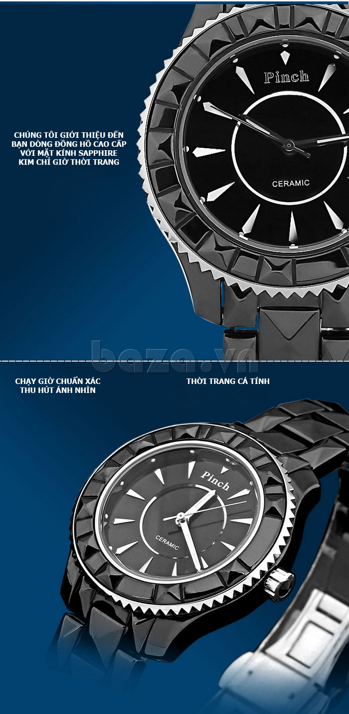 """Đồng hồ nữ """" Đồng hồ nữ thời trang Pinch 6001 """"  phụ kiện thời gian xứng tầm đẳng cấp"""