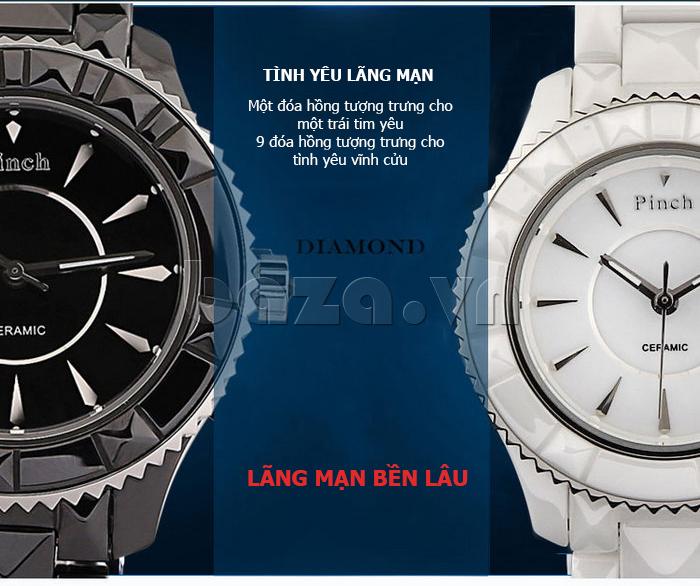 """Đồng hồ nữ """" Đồng hồ nữ thời trang Pinch 6001 """"  tình yêu vĩnh cửu"""