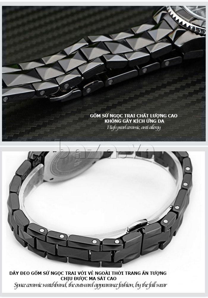"""Đồng hồ nữ """" Đồng hồ nữ thời trang Pinch 6001 """" thời trang ấn tượng chịu được ma sát cao"""