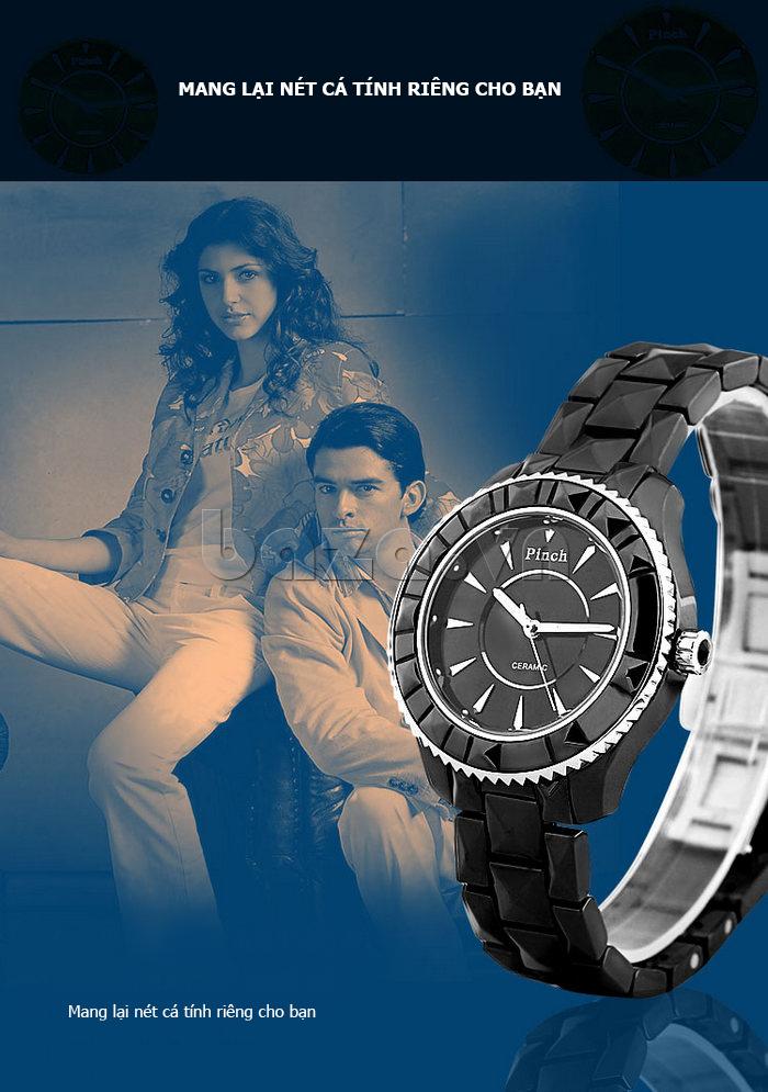 """Đồng hồ nữ """" Đồng hồ nữ thời trang Pinch 6001 """"  mang lại nét cá tính riêng cho bạn"""