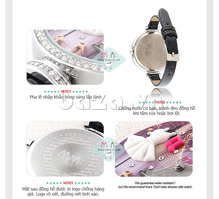 Đồng hồ nữ Mini MN915 đêm nhạc dạ hội dây da đẹp