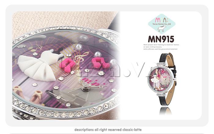 Đồng hồ nữ Mini MN915 đêm nhạc dạ hội đính đá lấp lánh