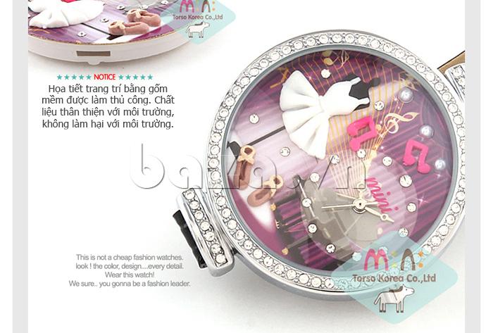 Đồng hồ nữ Mini MN915 đêm nhạc dạ hội phần trang trí làm thủ công tinh xảo