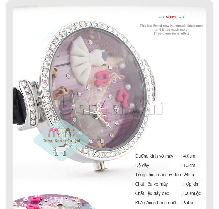 Đồng hồ nữ Mini MN915 đêm nhạc dạ hội họa tiết độc đáo đẹp mắt