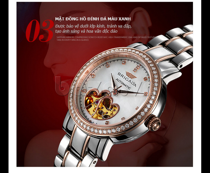 Đồng hồ nữ Brigada 6002 tinh xảo