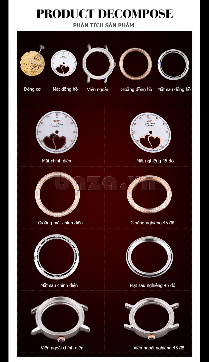 Đồng hồ nữ Brigada 6002 thiết kế độc