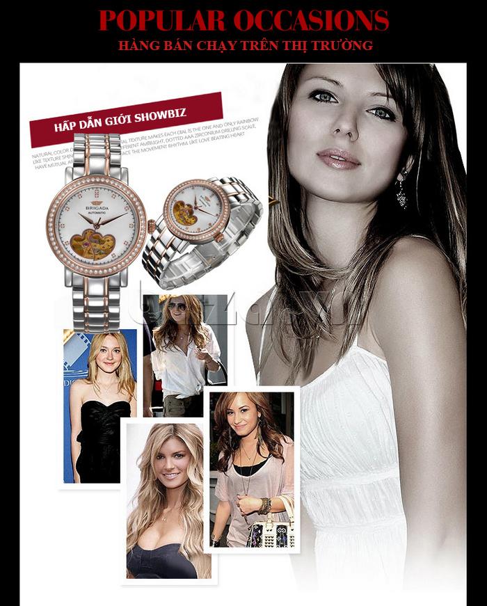 Đồng hồ nữ Brigada 6002 thiết kế tinh tế