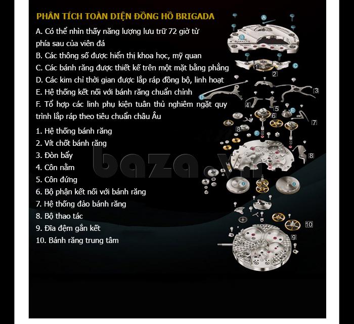 Đồng hồ nữ Brigada 6002 thiết kế đẹp